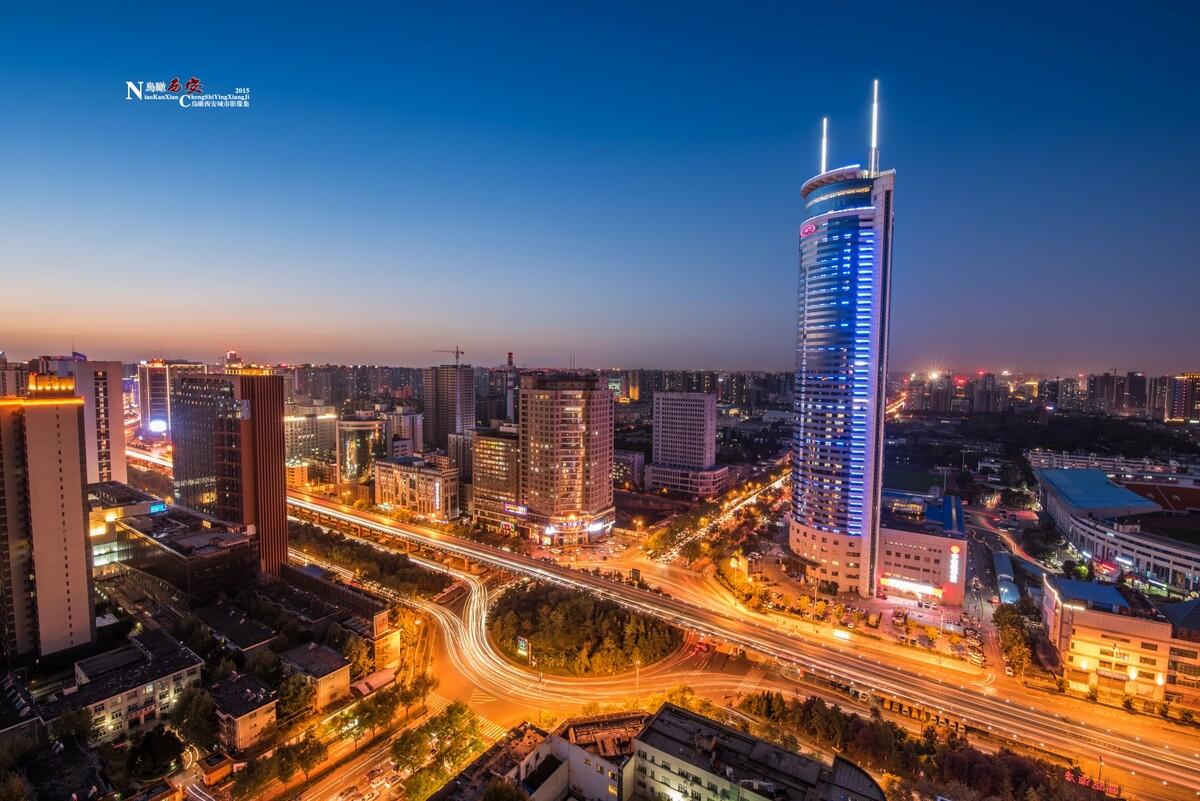中国环城市桥夜景-尼康,朱雀,美食,延吉,南二吃西安v城市转盘十大必图片