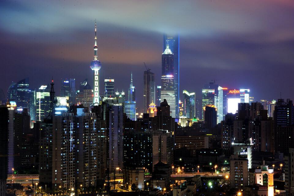 东方明珠 上海环球金融中心夜色