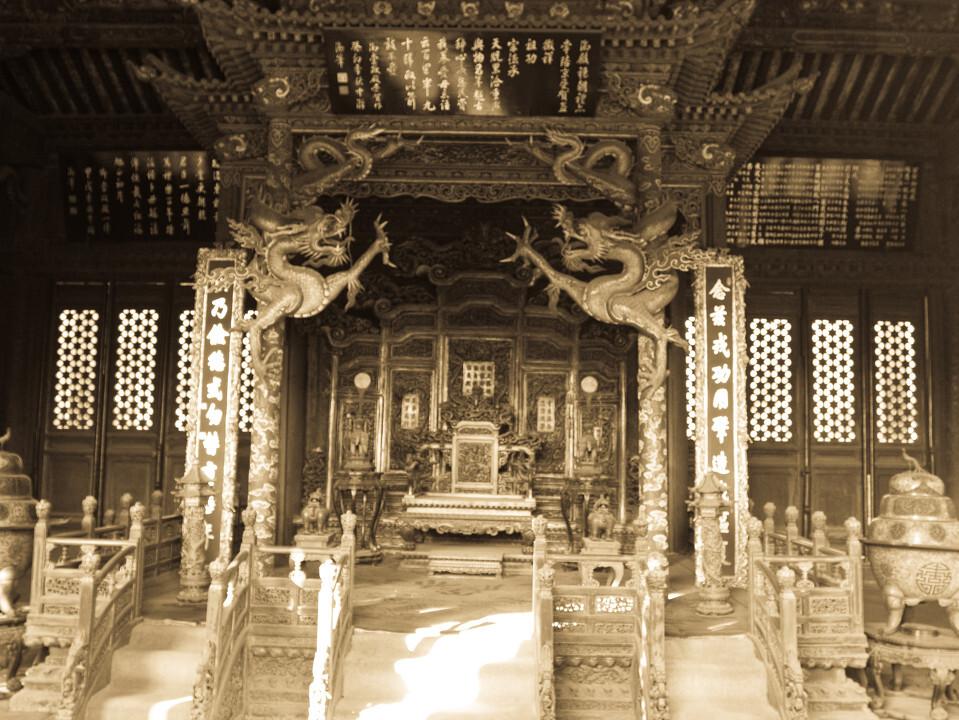 沈阳故宫の崇政殿内景