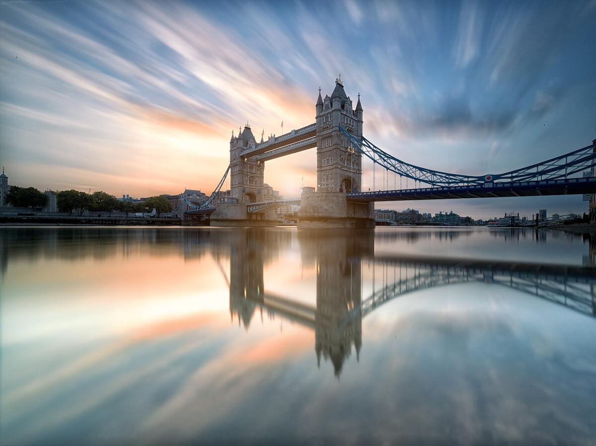 """大桥的一日十次_伦敦塔桥的日出 v2 - 风光, 广角, 长曝光, 英国, 日出, 伦敦, """"第 ..."""