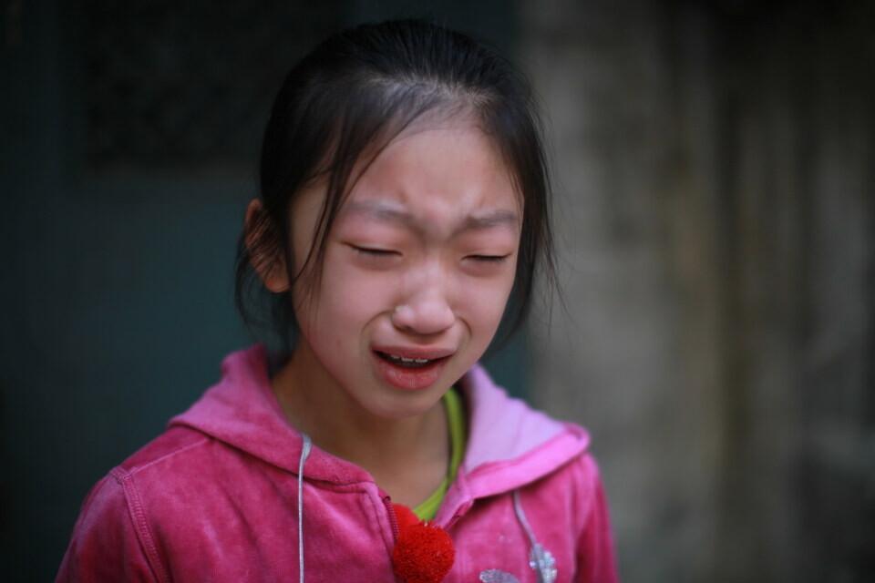 哭得很伤心-女儿成长记录201211
