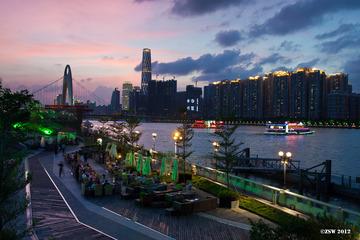 闪电中的广州夜色~~~~