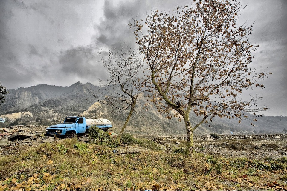 绵竹,汉旺,龙门山断裂带废墟图片