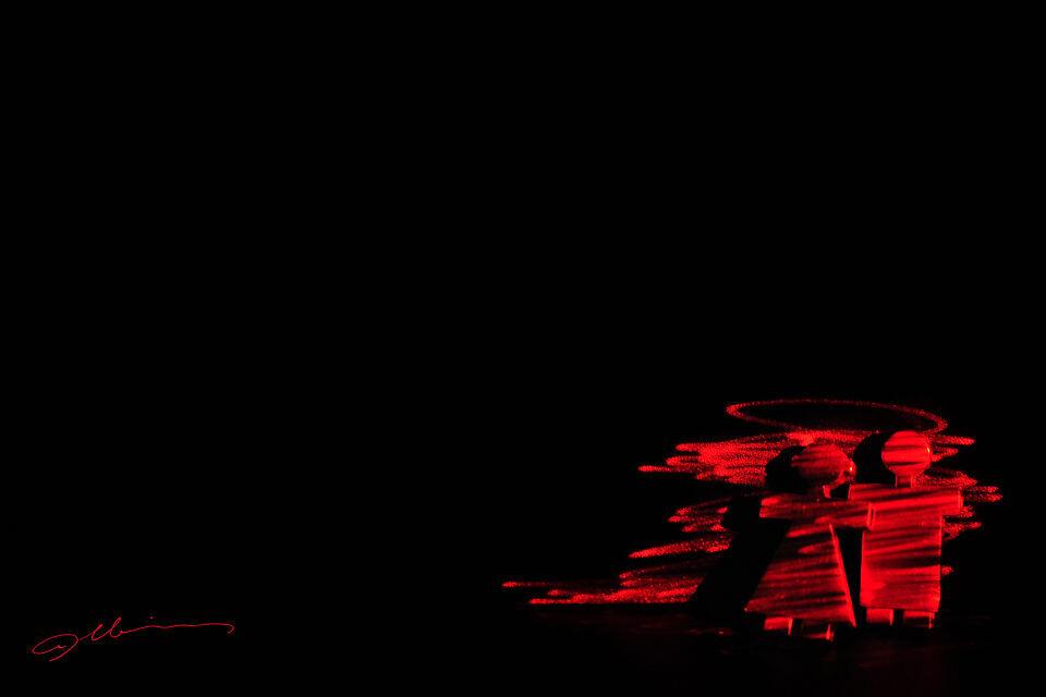 扫描记忆 - 红与黑, 光绘, 静物 - 扫描 · 记忆 - A
