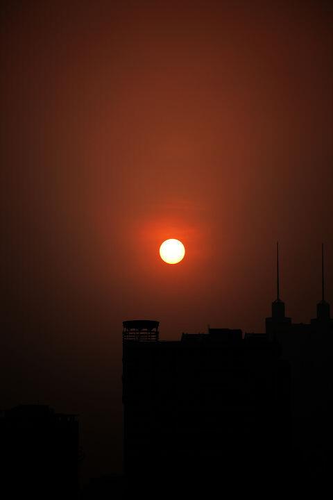 每当夕阳西沉的时候
