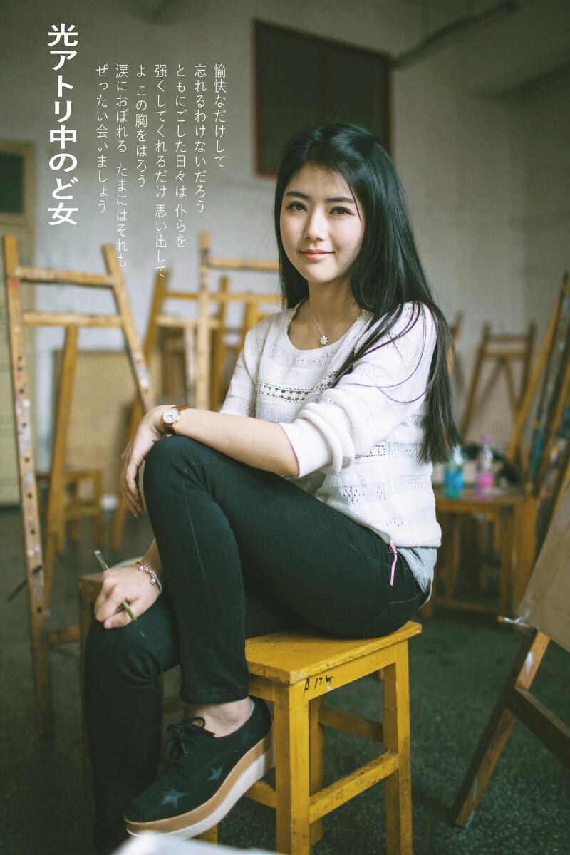 光の画室-美女,照片,武汉,约片,日系,35mm的美女低头人像图片