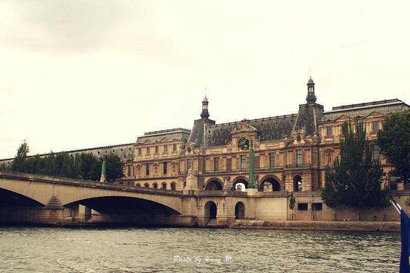 塞纳河风景 boatbus, 塞纳河游轮, paris, 巴黎 高清图片