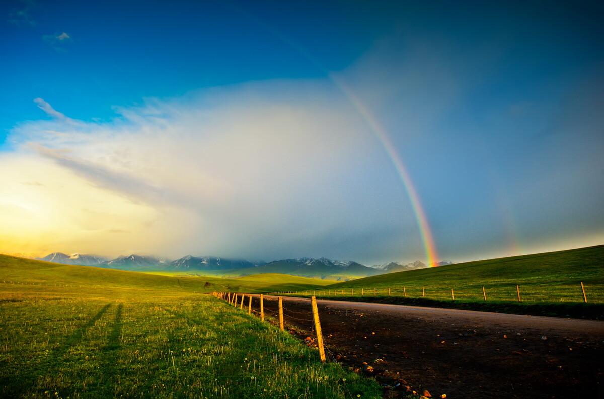 喀拉峻上看彩虹 - 色彩, 风光, 纪实, 尼康, 广角 - xuzhou796 - 图虫摄影网